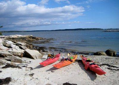 Maine Island Kayaking Trips Island Beach